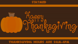 StatMed Thanksgiving Hours